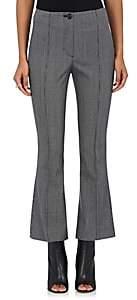 Helmut Lang Women's Houndstooth Wool-Blend Flared Crop Pants - Melange Grey Multi