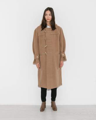 R 13 Camel Long Toggle Coat