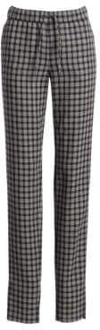 Akris Punto Women's Mike Check Pants - Navy Sand - Size 6