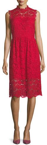 Kate Spade New York Sleeveless Poppy Lace Midi Dress