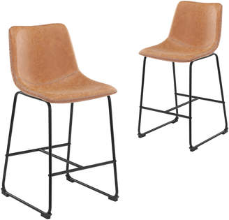 Webster Temple & Set of 2 Phoenix Vintage-Style Barstools