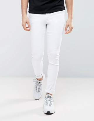Asos DESIGN Extreme Super Skinny Jeans In White