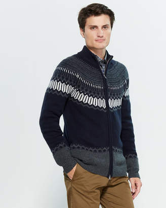 Gant Fair Isle Long Sleeve Zip-Up Sweater