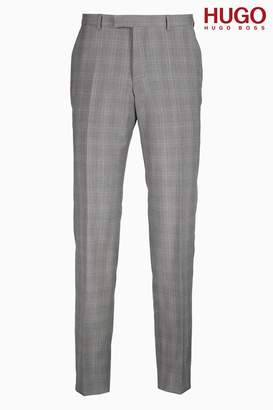 Next Mens HUGO Grey Prince Of Wales Suit Trouser