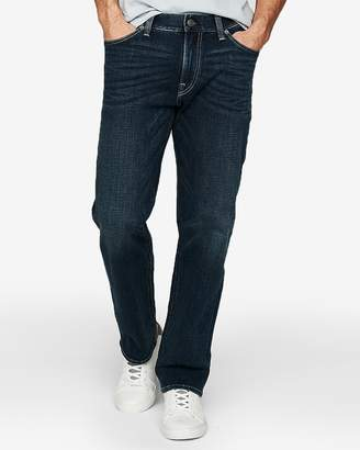 Express Relaxed Dark Wash 4 Way Stretch Jeans