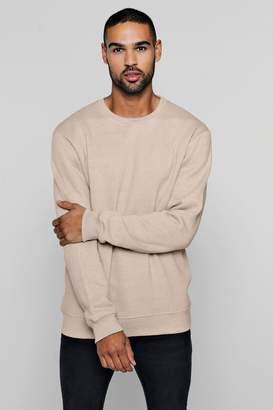 boohoo Fleece Crew Neck Sweatshirt