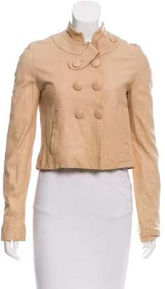 Chloé See by Leather Double-Breasted Jacket