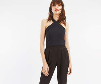 Oasis CREPE HALTER CROSS NECK TOP