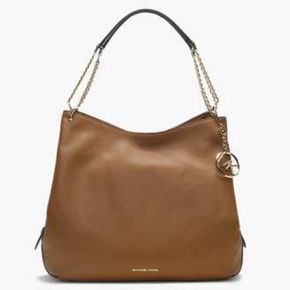 Michael Kors Large Lillie Acorn Pebbled Leather Shoulder Tote Bag