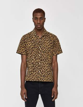 Gitman Brothers GV x Need Supply Co. Leopard/Camo Mash Up SS Camp Collar Shirt