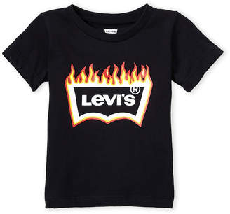 Levi's Infant Boys) Black Fire Logo Tee