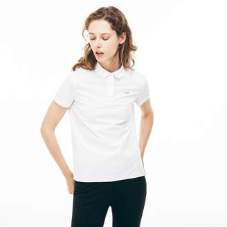 Lacoste Women's Regular Fit Stretch Poplin Polo Shirt