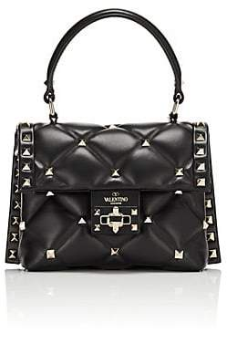 Valentino Women's Candystud Mini Leather Satchel - Black