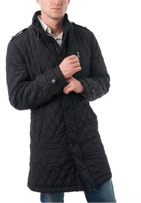 Verno Big Men's Black Polyester Quilted Car Coat