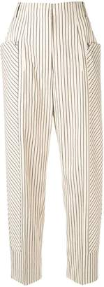 Sportmax high-waisted stripe trousers