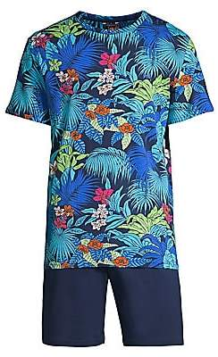 Hom Men's Maitai Cotton Sleepwear Tee & Shorts Set