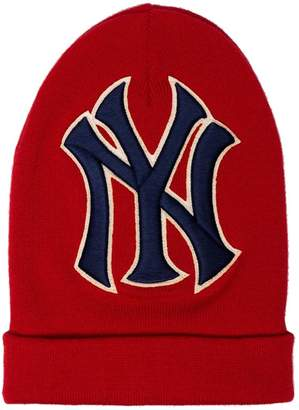 Gucci red NY Yankees Embroidered Wool Hat