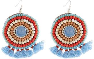 Nakamol Mini Tassel Circle Drop Earrings