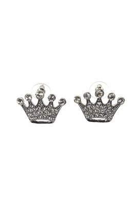 Diane's Accessories Rhinestone Crown Earrings
