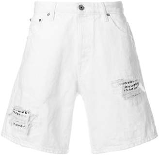 Just Cavalli distressed utility shorts