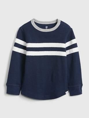 Gap Chest-Stripe Waffle-Knit T-Shirt