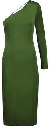 Cushnie et Ochs Claudia One-Shoulder Open-Back Stretch-Jersey Dress