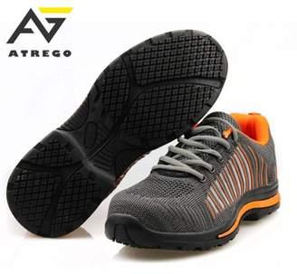 Atrego ATREGO Meigar Men's Safety Toe Lightweight Safety Sneaker Steel Toe Bulletproof-Sole Breath Outdoor Work Shoes