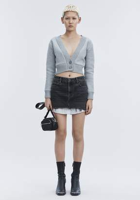 Alexander Wang HI RISE DENIM MINI SKIRT