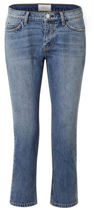 The Cropped Mid-rise Straight-leg Jeans - Mid denim