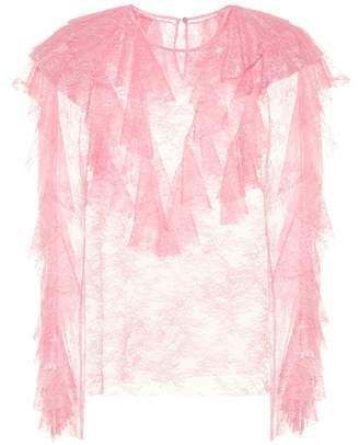 Philosophy di Lorenzo Serafini Ruffled lace top