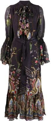 Camilla wild flower bell sleeve dress
