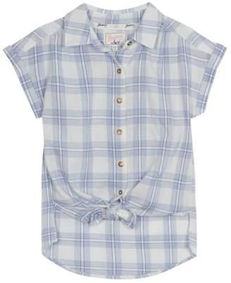 Mantaray 'Girls' Blue Checked Shirt