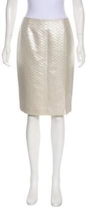 Bill Blass Metallic Knee-Length Skirt