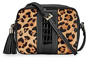 GiGi New York Women's Maddie Leopard Print Calf-Hair & Leather Crossbody Bag