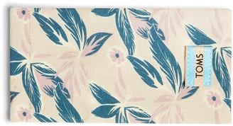 Lilac Floral Canvas Sunglasses Case