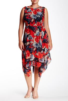 Taylor Floral Chiffon Dress (Plus Size) $138 thestylecure.com