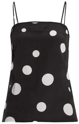 Racil - Pumpkin Dot Print Silk Cami Top - Womens - Black