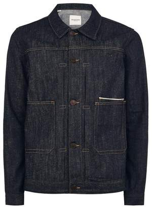 Topman Mens Navy SELECTED HOMME Selvedge Denim Jacket