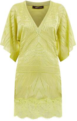 Roberto Cavalli Knitted Kimono Dress