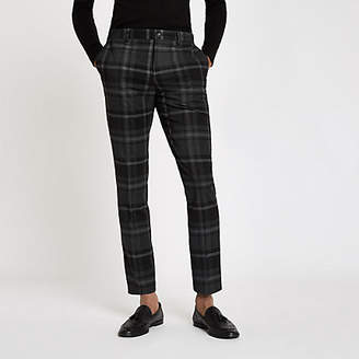 River Island Grey check skinny fit smart pants