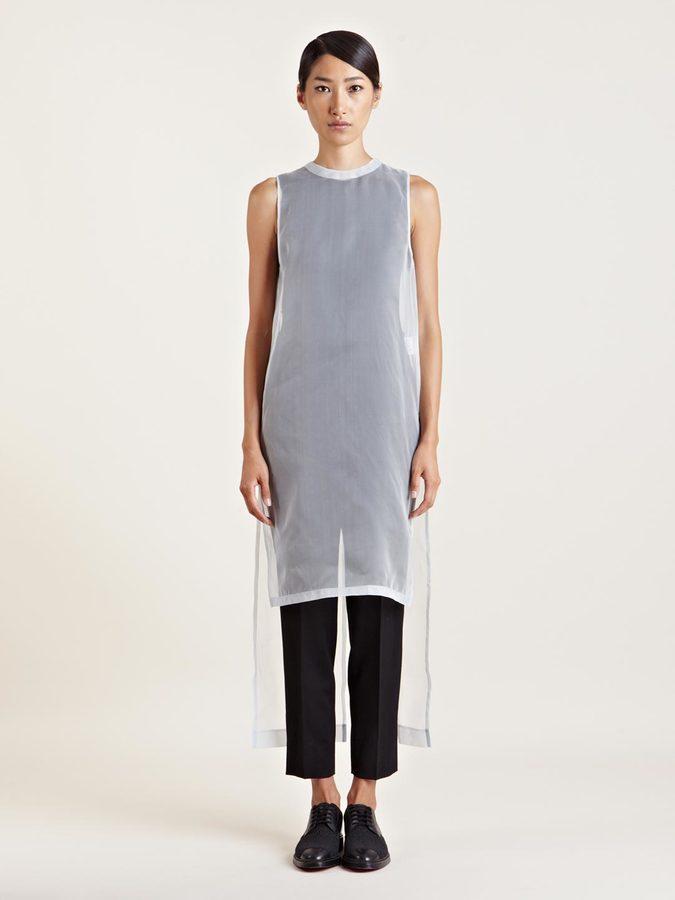 Givenchy Women's Blue Long Sheer Dress