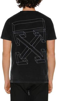 Off-White Off White Men's 3D Line Slim T-Shirt