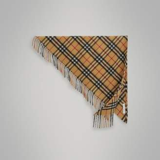 Burberry The Mini Bandana in Vintage Check Cashmere , Size: OS