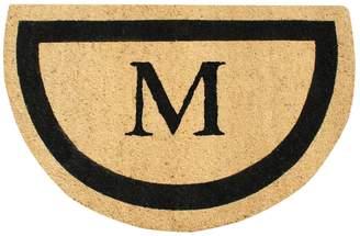 First Impression Micah Half Round Monogrammed Doormat