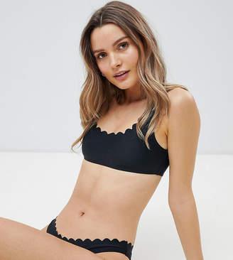 South Beach Scallop Edge Mix & Match Crop Bikini Top