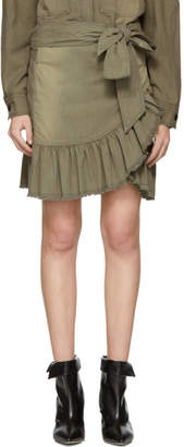Etoile Isabel Marant Khaki Lindy Miniskirt
