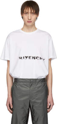 Givenchy White Graffiti Logo T-Shirt