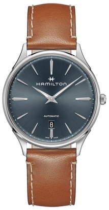 Hamilton Jazzmaster Thinline Automatic Leather Strap Watch, 40mm