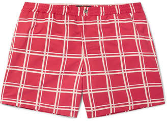 Tod's Short-Length Checked Swim Shorts