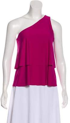 Halston One-Shoulder Accented Top w/ Tags